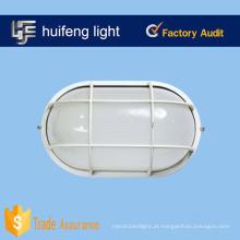Luzes de anteparo oval de alumínio de vidro de borosilicato de 100 watts