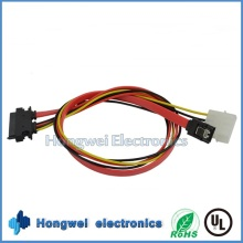 Male to Female SATA 7+15p to 4p Power Plug and SATA 7p Cable