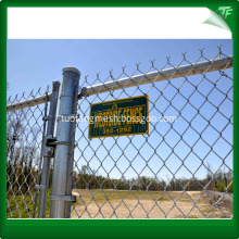 White  PVC chain link fence