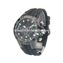 Cold light sport watch silicone strap for mature men