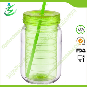 20oz High Quality Plastic Mason Jar with Custom Logo (MJ-D1)