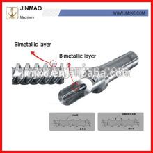 Doble husillo bimetálico de buena calidad y barriles para máquina de moldeo por inyección
