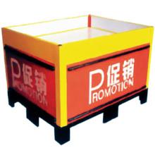 Metal de pequeña recepción barato venta caliente plegable metal mesa/supermercado plegable tabla de la promoción