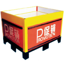 Hot sale cheap reception desk/small metal folding table/supermarket metal folding promotion table