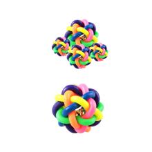 Brinquedo do animal de estimação de TPR de brinquedos de borracha da inteligência do cão da bola Squeaky com Bell