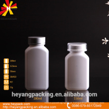 Frasco de medicina de plástico oval branco pet 150 / 180ml