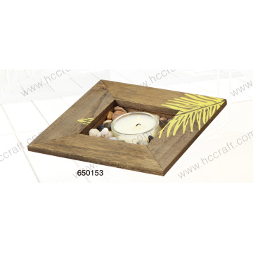 New Wooden Tray with Sick-Screen for Candle