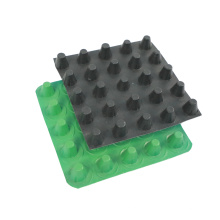 Plastic drainage board for roofing anti-seepage and heat insulation layer