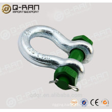 high quality US type drop forged round pin anchor shackle