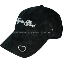 Micro Suede Metallic Embroidery Leisure Baseball Hat Cap (TRB091)