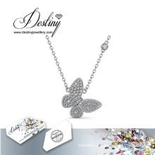 Destin bijoux cristal de Swarovski papillon pendentif & collier