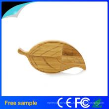Популярная форма листьев Деревянные USB Flash Drive
