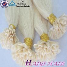 En gros Brésilien Vierge Double Dessinée Extension de Cheveux Kératine Astuce Extensions de Cheveux U Pointe Cheveux