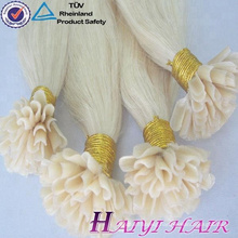 Wholesale Brazilian Virgin Double Drawn Hair Extension Keratin Tip Hair Extensions U Tip Hair