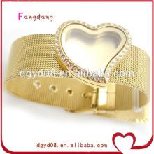 design de joias de pulseira de aço inoxidável 316 ouro para meninas