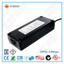 24V, 5A DC Unit Charger & 24V,5A Power Supply Charger Class2 UL