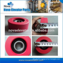 Escalator Red Step Rollers
