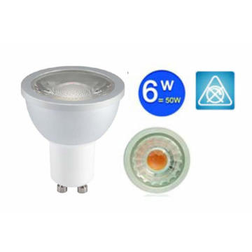 Commercial Ceiling GU10 COB Spotlight 6W Dimmable