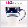 Canecas de porcelana elegante recentemente personalizadas para presentes
