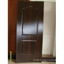 Chapa natural MDF HDF molde piel de la puerta