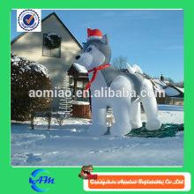 Chien chien gonflable gonflable de chien de décoration de Noël à vendre chaud à vendre