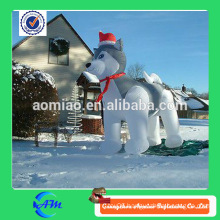 Hot sale inflatable christmas decoration dog lovely inflatable husky dog for sale