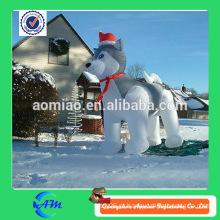 Cão inflável inflável do cão inflável da decoração do Natal da venda quente venda