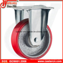 5 Inch Medium Duty Fixed Cast Iron PU Caster