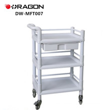 DW-MFT007 ABS Plastic Portable Muitifunction Medical Instrument Trolley