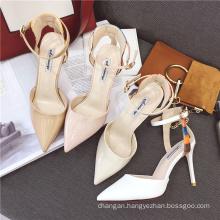 2017 women sandal high heels shoes lady dress shoes bridal wedding shoes