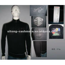 90%wool 10%cashmere Intarsia Cashmere pullover