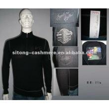 90%wool 10%cashmere Intarsia Cashmere pullover