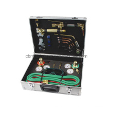 Gas Welding and Cutting Torch Kit Acetylene Oxygen Brazing Professional Set Carrying Case