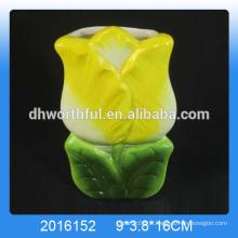 Humidificateur aromatique en céramique en gros, humidificateur céramique et purificateur d'air en forme de fleur