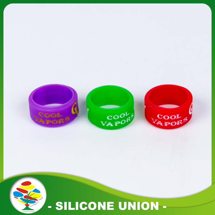 Debossed With Color Filled Silicone Ring