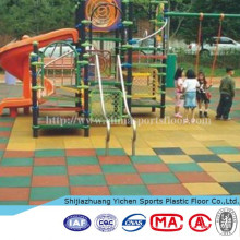 Rubber Driveway Floor Tile For Outdoor Playground