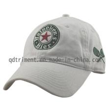 Lavado 100% algodón sarga casquillo de golf de golf bordado (TMB0839)