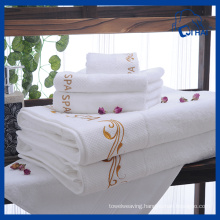 100% Cotton White Hotel Towel Sets (QH9004009)