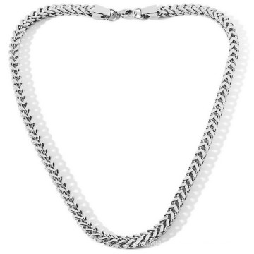 Atacado mens jóias em aço inoxidável prata colar vners jóias