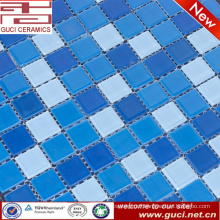 hot sale blue crystal glass powder mosaic tile for swimming pool wall