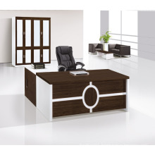 Mobile Filing office desk with locking Hidden Drawer in White