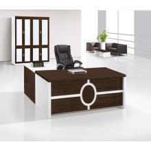 Мобильный офисный стол с блокировкой Скрытый ящик в белом