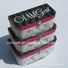 Personalizar Maletín de papel de cartón de calidad / Caja de embalaje de regalo de papel de la maleta al por mayor