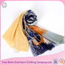 custom design digital printed turkish square scarf wholesale