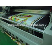 Tissu satiné en satin imprimé en usine