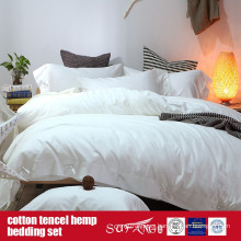 Cotton Lyocell Hemp Blended Bed Set Factory Direct Sale