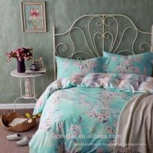 Tela de microfibra impressa escovada e preparada com bom design para a folha de cama com ótimos designs