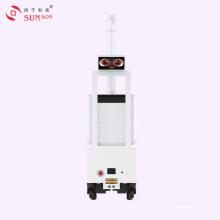 Robô de spray para matar bactérias em hospitais