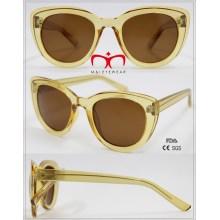 Gafas de sol plásticas vendedoras calientes de las señoras con el interior del metal (WSP601543)