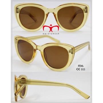 Горячие продажи дамы пластиковые солнцезащитные очки с металлом внутри (WSP601543)